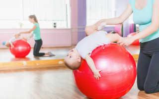 Гимнастика на мяче 3 месяца. Упражнения на фитболе для грудничков (15 полезных упражнений)